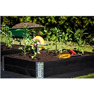 Raised Wooden Bed, Stackable - Large, Black - Raised Garden Bed