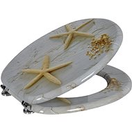 AQUALINE FUNNY toilet seat with starfish print MDF HY1185 - Toilet Seat