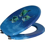 AQUALINE FUNNY toilet seat with dolphin print MDF HY-S115 - Toilet Seat