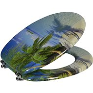 AQUALINE FUNNY toilet seat with palm print MDF HY-S351 - Toilet Seat