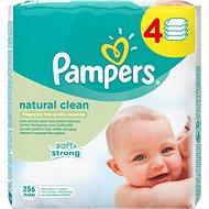 PAMPERS Natural Clean (4× 64 ks) - Dětské vlhčené ubrousky