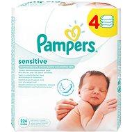 PAMPERS Sensitive (4x 56 ks) - Dětské vlhčené ubrousky