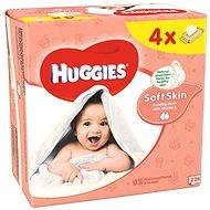 HUGGIES Soft Skin Quatro Pack (4× 56 ks) - Dětské vlhčené ubrousky