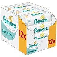 PAMPERS Sensitive (12× 56 ks) - Dětské vlhčené ubrousky