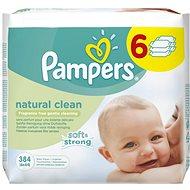 PAMPERS Natural Clean (6 x 64 ks) - Dětské vlhčené ubrousky