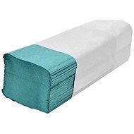 ALLSERVICES papírové ručníky ZZ zelené, 34 g/m2, 4000 ks - Papírové ručníky