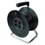 Solight Prodlužovací přívod na bubnu, 4 zásuvky, černý, 50m - Prodlužovací přívody