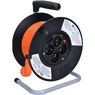 Solight Prodlužovací přívod na bubnu, 4 zásuvky, oranžový, 25m - Prodlužovací přívody