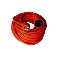 Solight Prodlužovací kabel, 1 zásuvka, oranžová, 30m