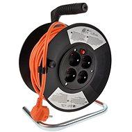 Solight Prodlužovací přívod na bubnu, 4 zásuvky, oranžový, 25m - Prodlužovací kabel