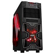 EVOLVEO SA02 černá/ červená - Počítačová skříň