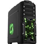 EVOLVEO Y01 černá/ zelená - Počítačová skříň