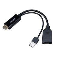 Akasa HDMI na DisplayPort adaptér s USB napájením / AK-CBHD24-25BK - Redukce