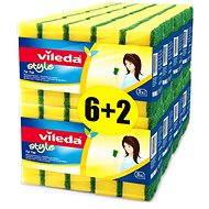 VILEDA Style Tip Top houbička 8x5ks ks - Houba na mytí