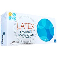 ASAP Latex gloves with powder 100 pcs L