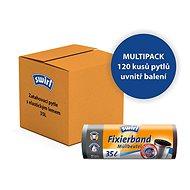SWIRL Retractable bags with elastic hem 35 l, 12 × 10 pcs - Bin Bag