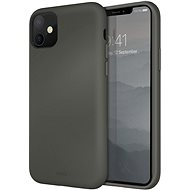 Uniq Hybrid Lino Hue for the iPhone 11, Moss Grey - Mobile Case