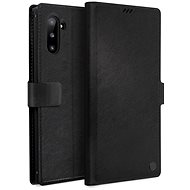 Uniq Journa Heritage Galaxy Note10 Ebene Black - Pouzdro na mobil
