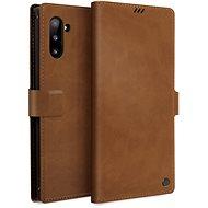 Uniq Journa Heritage Galaxy Note10 Fawn Camel - Pouzdro na mobilní telefon