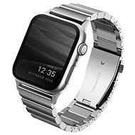 Uniq Strova Apple Watch článkový ocelový řemínek 44/42MM - Sterling stříbrný - Řemínek