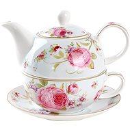 UTC Konvička porcelánová se šálkem SWEET ROSES - Tea For One