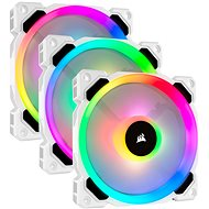 Corsair LL120 RGB 120mm Dual Light Loop White RGB LED PWM Fan — Triple Pack with Lighting Node PRO