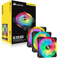Corsair iCUE QL120 RGB 120mm PWM Triple Fan + Lighting Node CORE - Ventilátor do PC