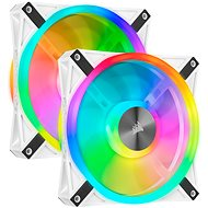 Corsair iCUE QL140 RGB 140mm White Dual Fan Kit - Ventilátor do PC