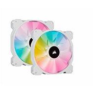 Corsair iCUE SP140 RGB ELITE Dual Pack White + Lightning Node Core - Ventilátor do PC