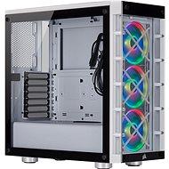 Počítačová skříň Corsair iCUE 465X RGB Tempered Glass bílá