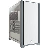 Corsair 4000D Tempered Glass White - Počítačová skříň