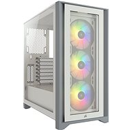 Corsair iCUE 4000X RGB Tempered Glass White - Počítačová skříň