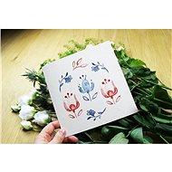 Be Nice přání Z lásky - květiny - Dárkové přání