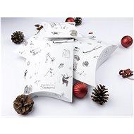 Be Nice Přírodní vánoční krabičky na balení - světlé (3 ks)