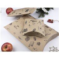 Be Nice Přírodní vánoční krabičky na balení dárků - hnědé (3 ks) - Dárková krabička