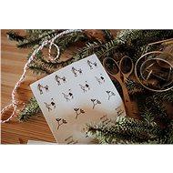 Be Nice Vánoční samolepky - Přírodní (32 ks) - Sada samolepek
