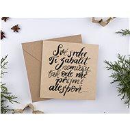 """Be Nice Vánoční přání - """"Své srdce ti zabalit nemůžu"""" - Dárkové přání"""