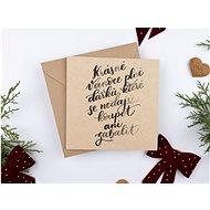 """Be Nice Vánoční přání - """"Krásné Vánoce plné dárků"""" - Dárkové přání"""