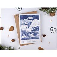Be Nice vánoční přání - Nesem Vám noviny modré - Dárkové přání