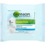 GARNIER Skin Naturals Essentials odličovací ubrousky 25 ks - Odličovací ubrousky