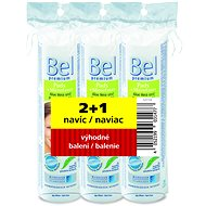 BEL Premium cotton buds 200 pcs + BEL Premium cushions round 3 x 75 pcs - Set