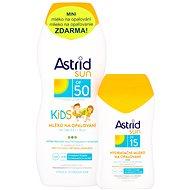 ASTRID SUN Dětské mléko na opalování SPF 50200 ml+ Hydratační mléko na opalování SPF 15100 ml - Sada