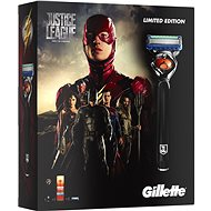 GILLETTE Fusion Proglide Flexball JUSTICE LEAGUE Flash kazeta - Dárková sada