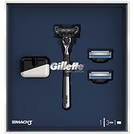 GILLETTE Mach3 Set Holicí strojek, 2 náhradní hlavice a stojan