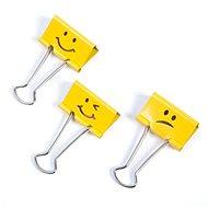 RAPESCO 19 mm - žluté Emoji - Klip na dokumenty
