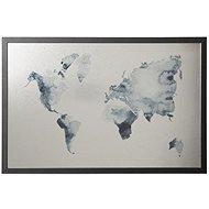"""VICTORIA """"World Map"""" 40x60cm, černý rám - Magnetická tabule"""