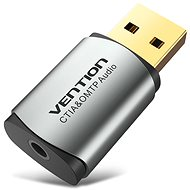 Vention USB External Sound Card Gray Metal Type (OMTP-CTIA) - Externí zvuková karta
