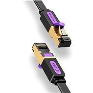 Vention Flat Cat.7 Patch Cable 8m Black - Síťový kabel