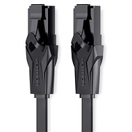 Vention Flat CAT6 UTP Patch Cord Cable, 10m, Black - Network Cable