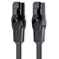 Vention Flat CAT6 UTP Patch Cord Cable 15m Black - Síťový kabel